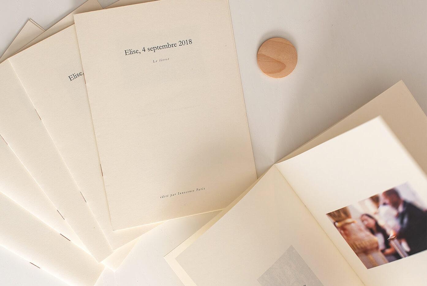 Innocence - Le livret - Album photo personnalisé